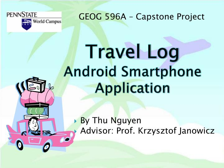 travel log android smartphone application n.