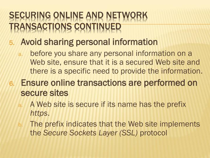 Avoid sharing personal information