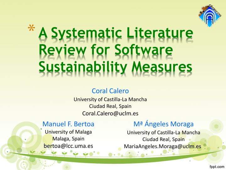 PPT - A Systematic Literature Review for Software