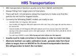 hrs transportation