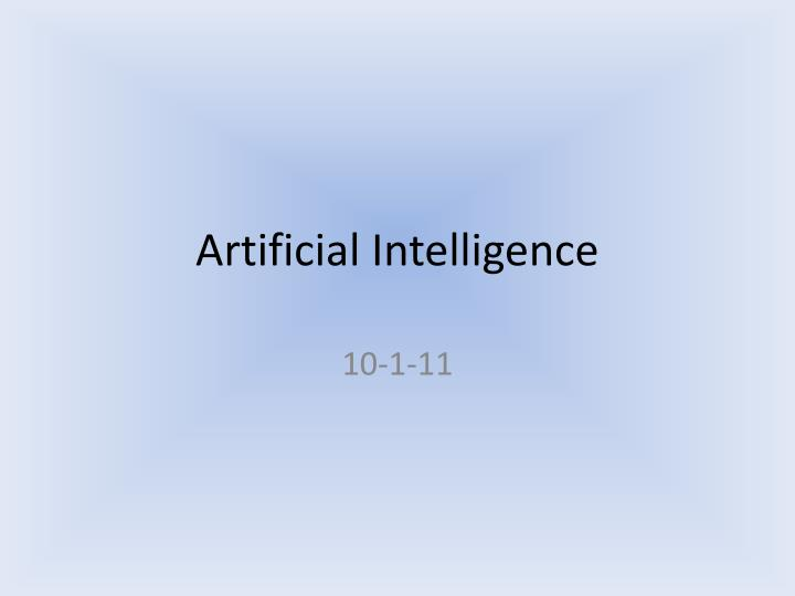 artificial intelligence n.