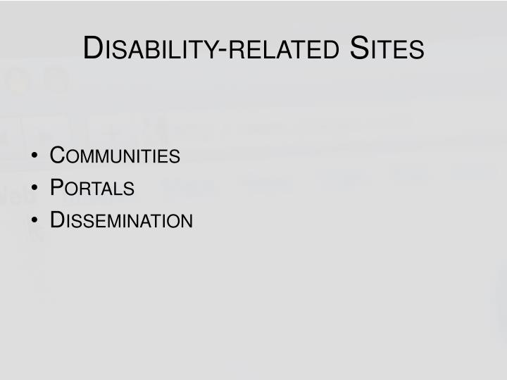 Disability-related Sites