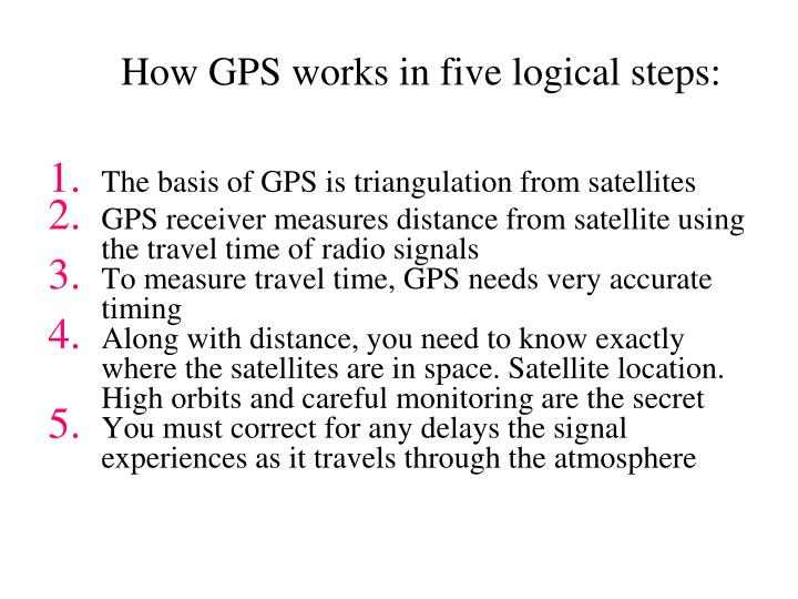How GPS works in five logical steps: