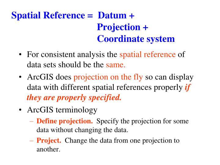 Spatial Reference =  Datum +