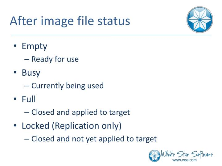 After image file status