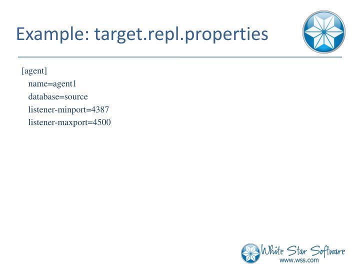 Example: target.repl.properties