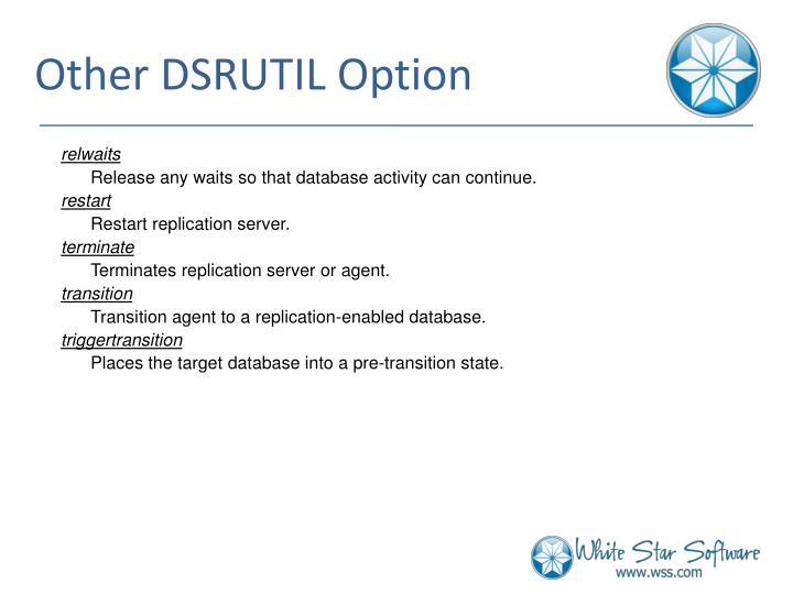 Other DSRUTIL Option