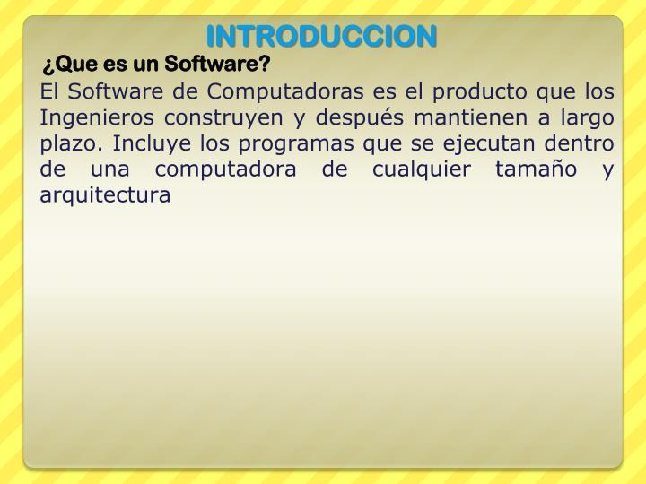 ¿Que es un Software?