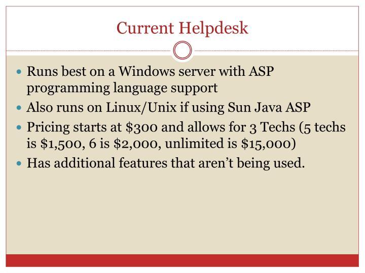 Current helpdesk