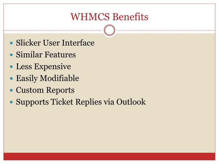 WHMCS Benefits