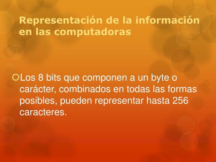 Representación de la información en las computadoras