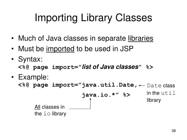 Importing Library Classes