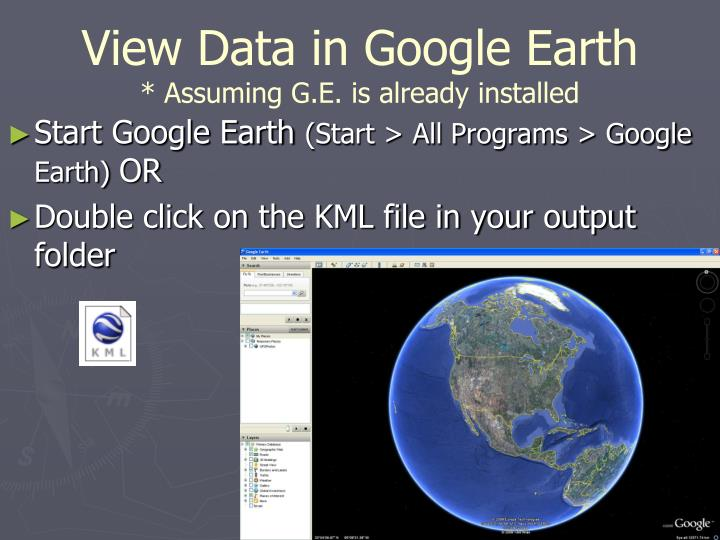 View Data in Google Earth