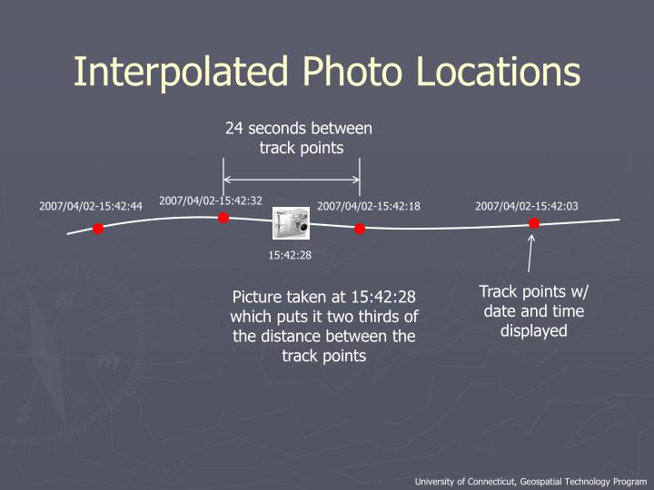 Interpolated Photo Locations