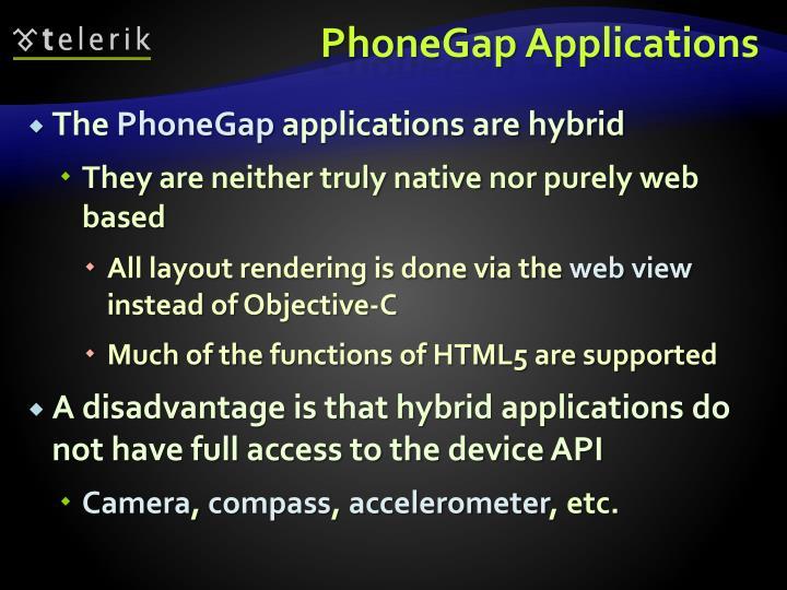 PhoneGap Applications