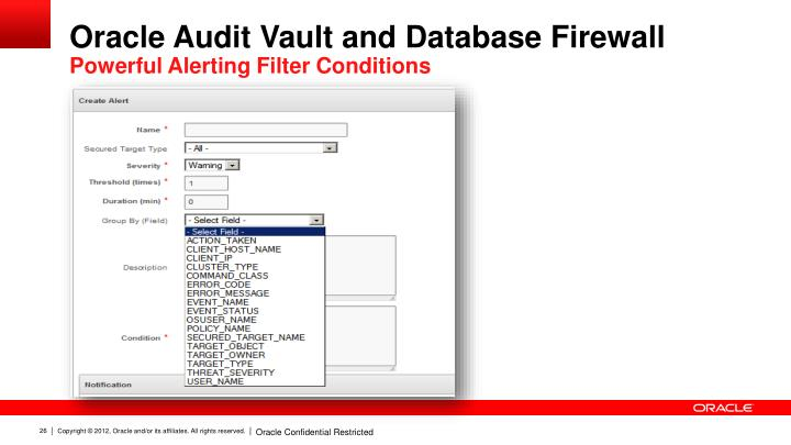 oracle database firewall
