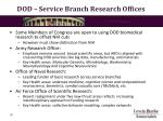dod service branch research offices