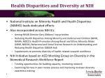 health disparities and diversity at nih