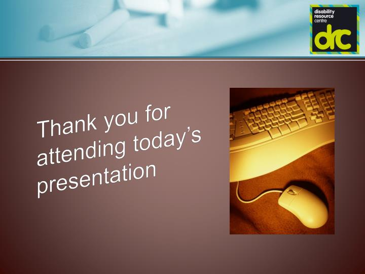 Thank you for attending today's presentation