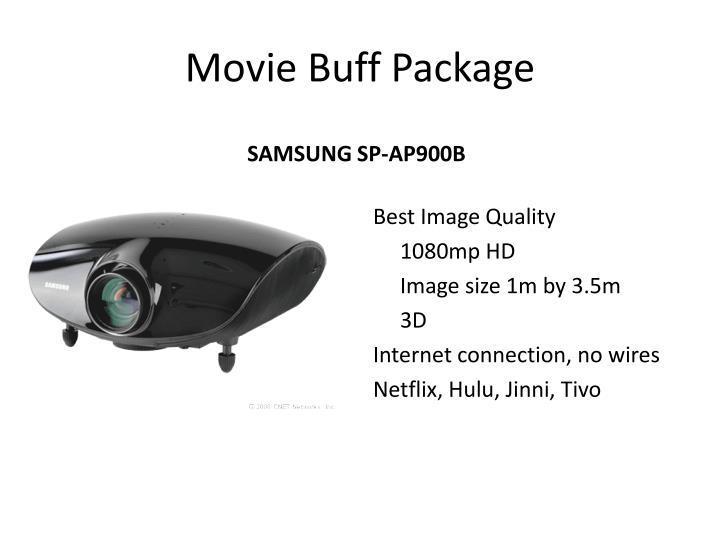 Movie buff package