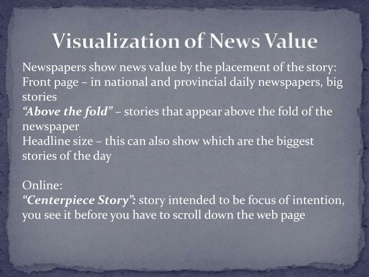 Visualization of News Value