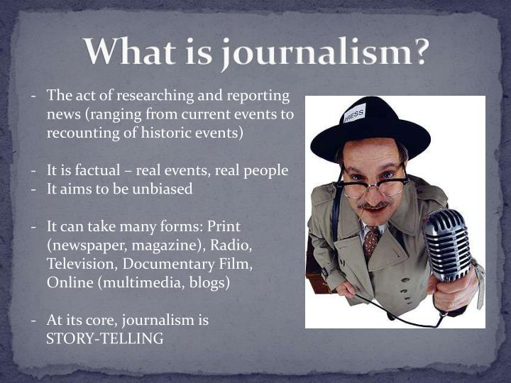 What is journalism