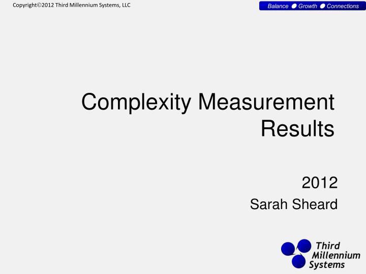 complexity measurement results n.