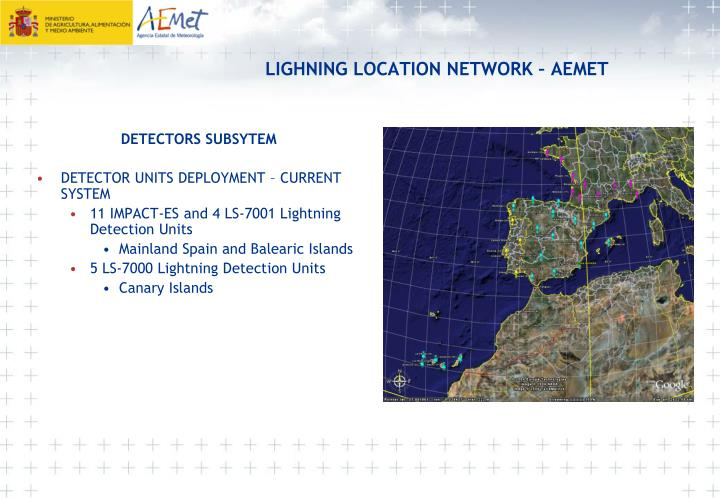 LIGHNING LOCATION NETWORK – AEMET