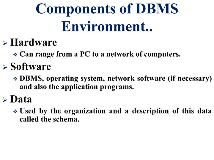 Preparing for bit – it2301 database management systems 2001d.