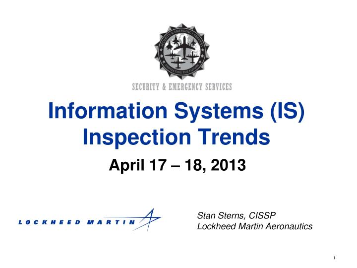 Information systems is inspection trends
