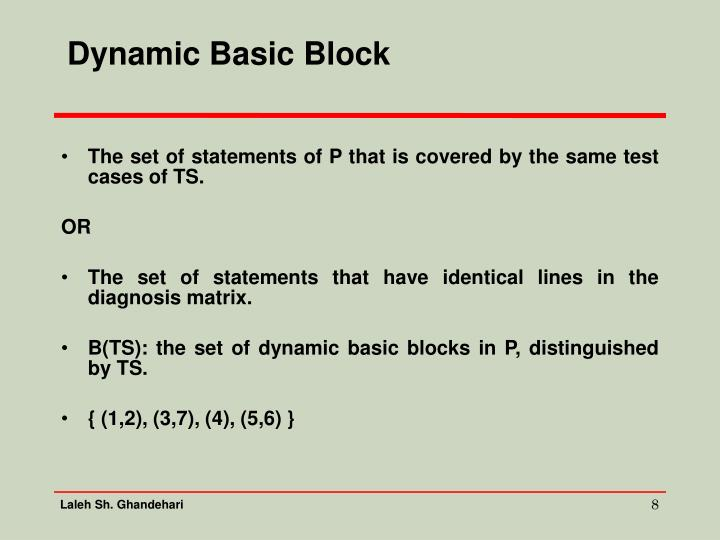 Dynamic Basic Block