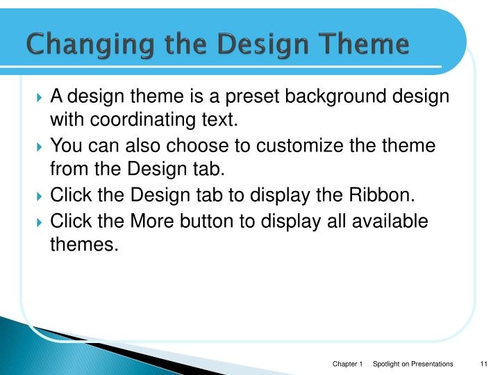 Changing the Design Theme