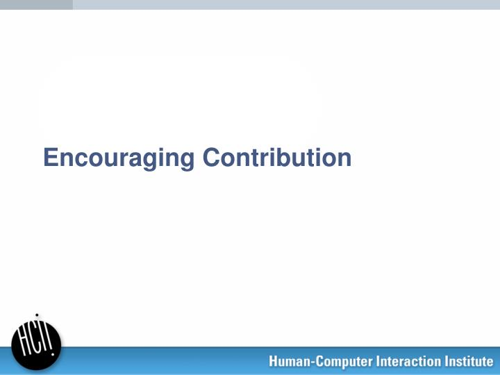encouraging contribution n.