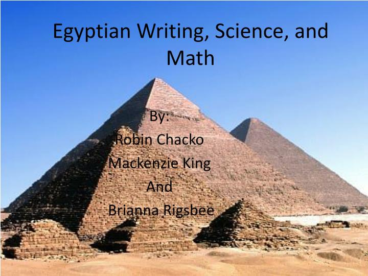 egyptian writing science and math n.