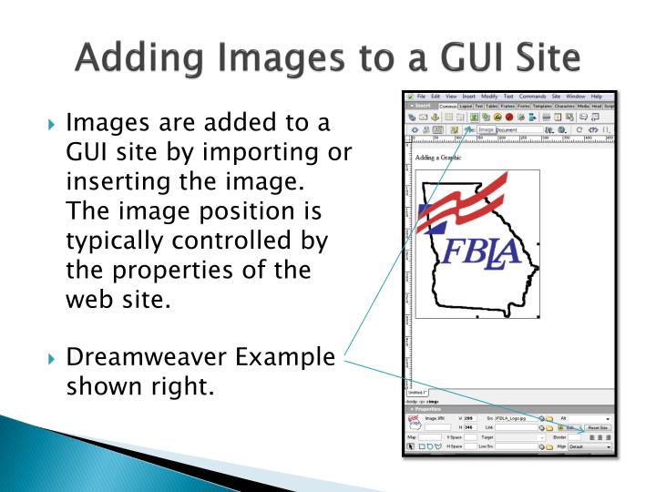 Adding Images to a GUI Site