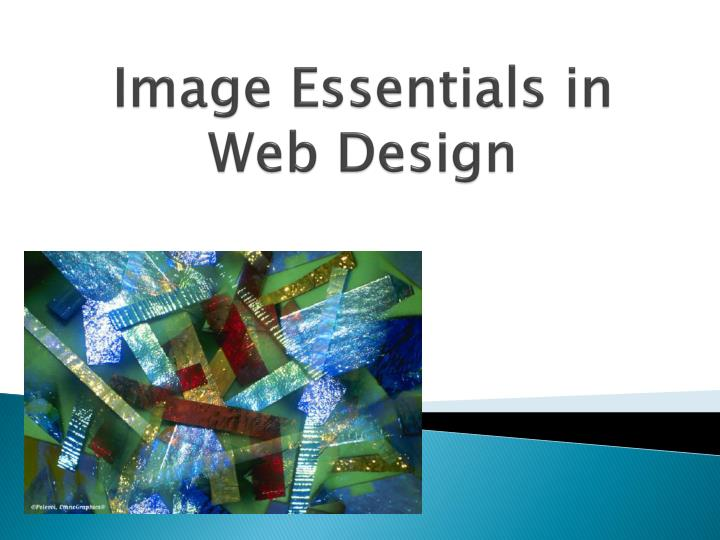 Image essentials in web design