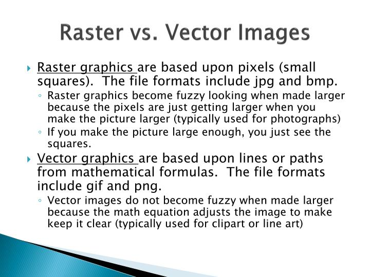 Raster vs. Vector Images