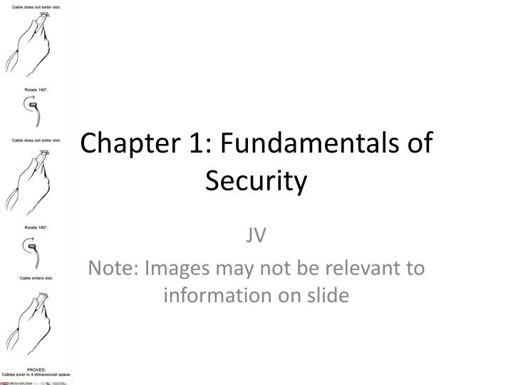 chapter 1 fundamentals of security n.