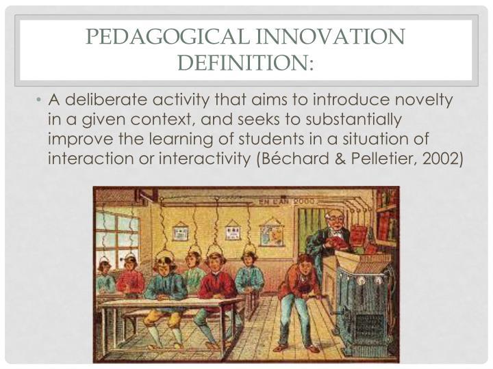 pedagogical innovation