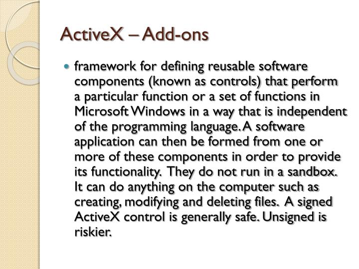 ActiveX – Add-ons