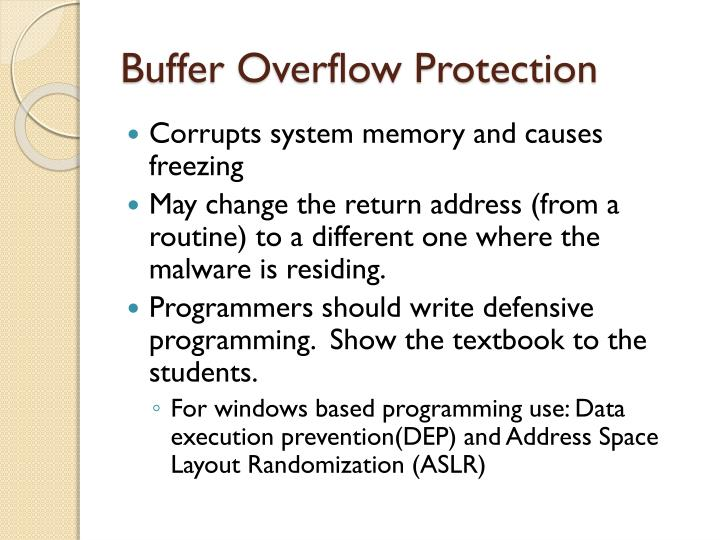 Buffer Overflow Protection