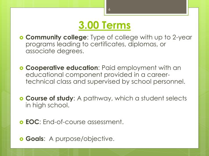 3.00 Terms
