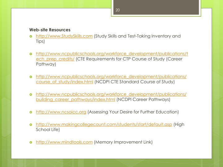 Web-site Resources