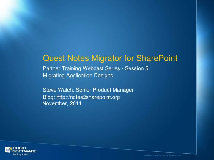 quest notes migrator for sharepoint n.