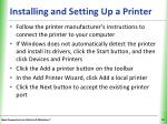 installing and setting up a printer