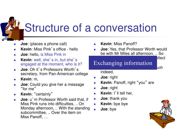 Structure of a conversation