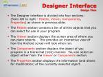designer interface design view