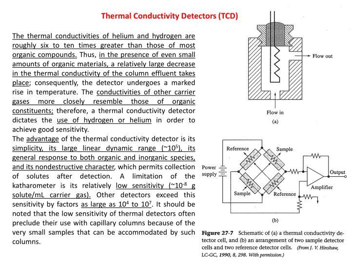 Thermal Conductivity Detectors (TCD)