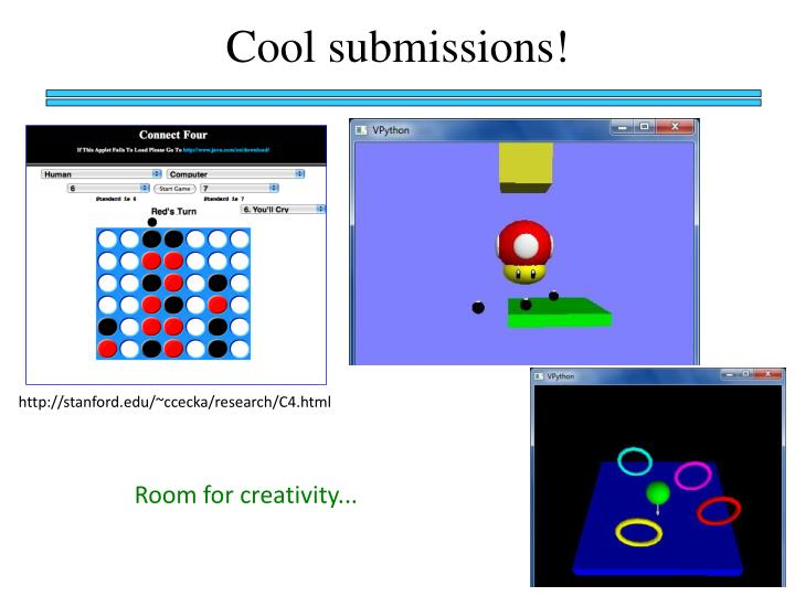 Cool submissions!