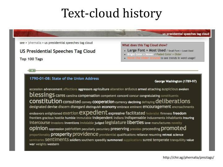 Text-cloud history